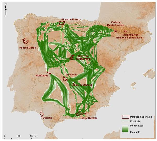 Corredores parques nacionales / Mario Mingarro y Jorge Lobo